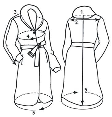 Coat Front and Back
