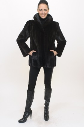 C0304 Brown Mink Jacket