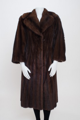 Front Brown Mink coat with Sable Trim