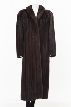 Front C0341 Brown Mink Coat