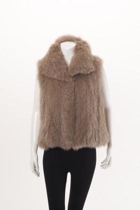 C0375 Woven Tan Fox Vest Front