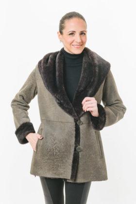 Pebble Dyed Shearling jacket