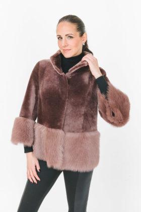 Dyed Shearling Jacket reversible