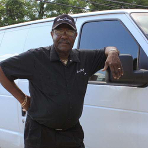"Joe became the driver for Mano Swartz in 1996 after retiring from Social Security Administration. Joe ""Action"" Jackson has a 99.9 % on-time record picking up and delivering furs to customers' homes. Customers appreciate his professionalism and promptness. Many calling for fur pickup simply say, ""please send Joe out""."
