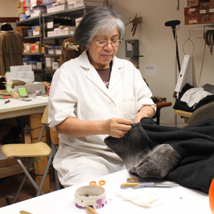 Julia is head master furrier and finisher for Mano Swartz since 1986. Born in Cochabamba, Bolivia, she studied under master furrier Simon Siedman when she came to Baltimore. Known for her precision, attention to fit and detail, Julia has been making Mano customers happy for years.